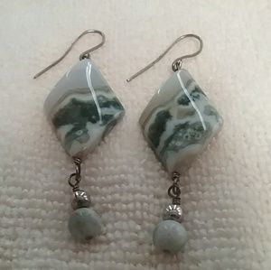 Handmade Agate stone earrings